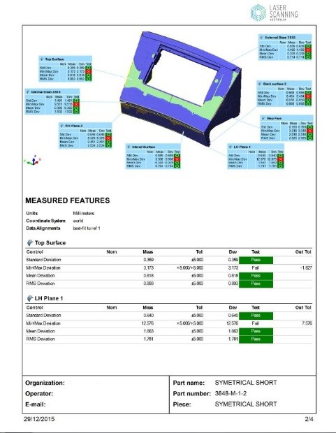 Wear analysis report